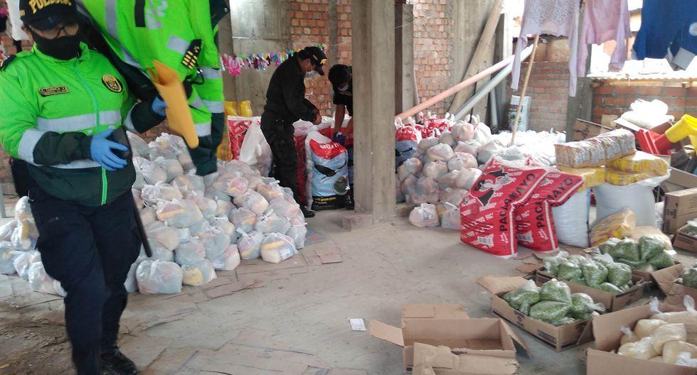La fiscalía indicó que el gobierno regional no está autorizado para comprar y donar alimentos durante el estado de emergencia.  (Fotos Fiscalía Anticorrupción de Áncash).