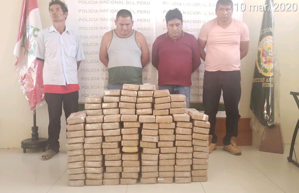 La Policía detuvo a cuatro sujetos  en Tambogrande, Piura, que conformarían la red criminal. (Foto: PNP)