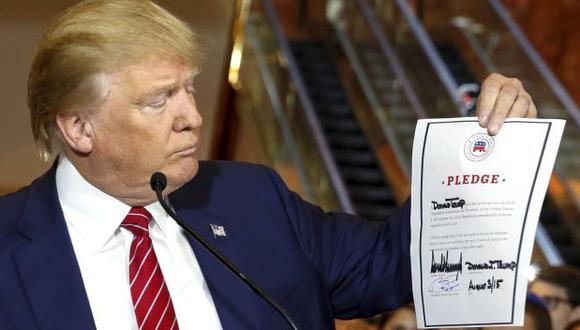 Trump firma compromiso de lealtad al Partido Republicano