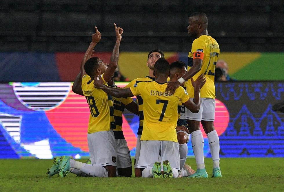 Ecuador vs .Venezuela jugaron por Copa América 2021. Foto: AFP