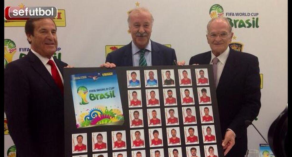 Vicente del Bosque ya tiene su álbum de Brasil 2014