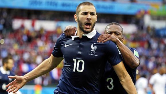 Francia goleó 3-0 a Honduras con doblete de Benzema