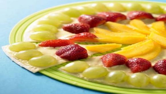 Pizza de frutas