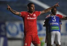 Paolo Guerrero anotó en la goleada del Inter de Porto Alegre