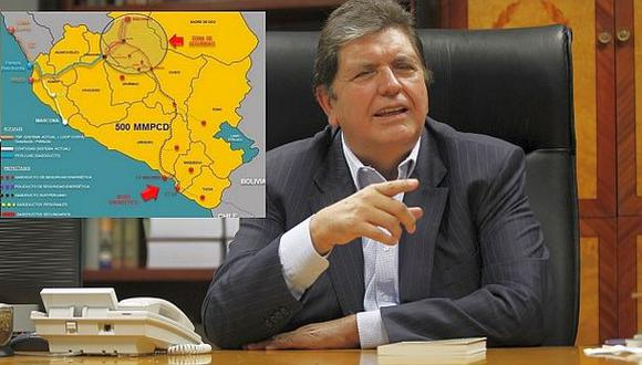 Alan García arremete contra licitación de Gasoducto del Sur