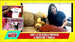 El particular regalo de Janet Barboza a hija de Christian Domínguez y Pamela Franco