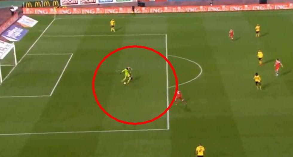 En el duelo entre Bélgica vs. Rusia, por las eliminatorias para la Eurocopa, Cheryshev puso el 1-1 tras error de Thibaut Courtois. (Foto: Captura).