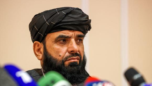 El portavoz de los talibanes Suhail Shaheen. (Dimitar DILKOFF / AFP).