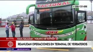 Terminal terrestre de Yerbateros reinicia viajes a la sierra y selva central