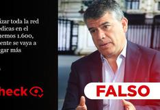 Es falso que solo tengamos 1.600 postas médicas, como declaró Julio Guzmán