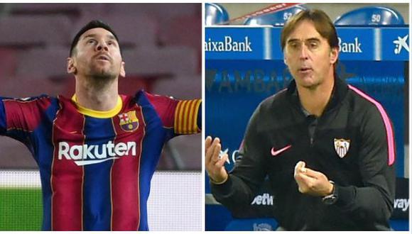 Lopetegui se deshizo en elogios hacia el Barcelona, rival de Sevilla en la Copa del Rey. (Foto: AFP)