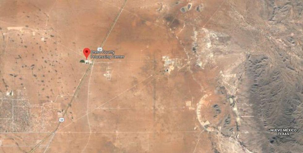 El centro de procesamiento Otero queda en una zona desértica y desolada del estado de Nuevo México. (Foto: Google vía BBC Mundo)