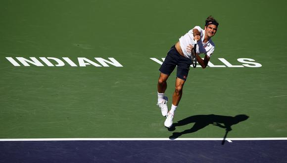 Roger Federer venció 2-0 a Kyle Edmund y avanzó a los cuartos de final del Indian Wells. | Foto: AFP