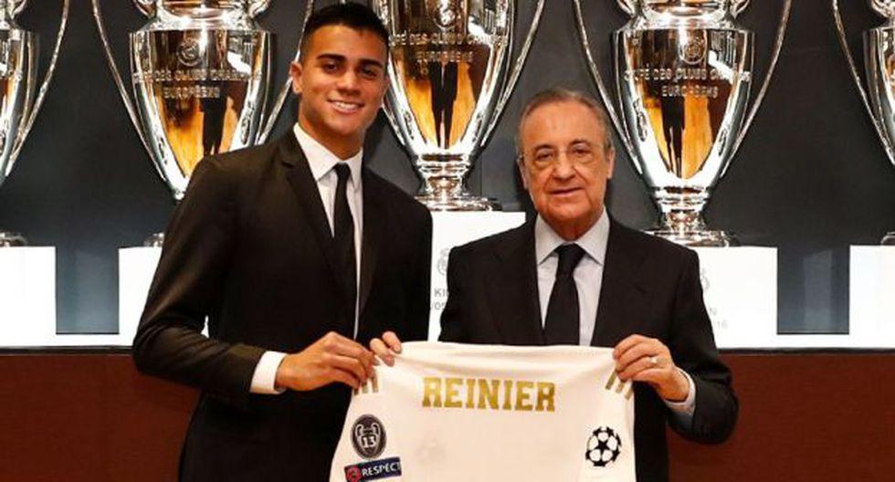 Reinier (18 años, contrato hasta 2026). Una joya que llegó y casi sin descanso empezó a trabajar en el Castilla. Lo quieren en el primer equipo de forma progresiva. (Foto: Real Madrid)