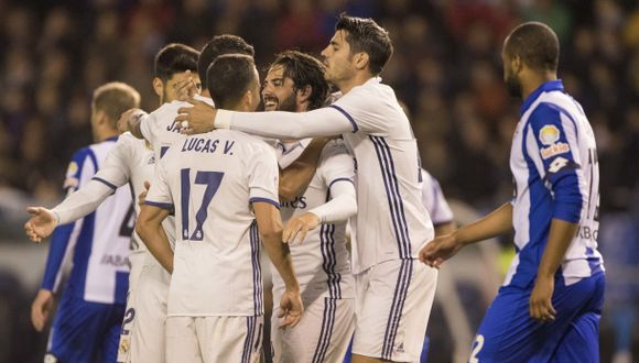 Real Madrid goleó 6-2 al Deportivo y sigue de escolta del Barza