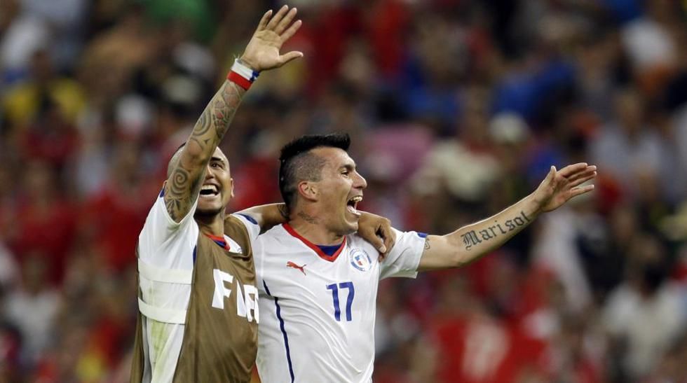 El desenfrenado festejo de Chile tras enviar a España a casa - 1