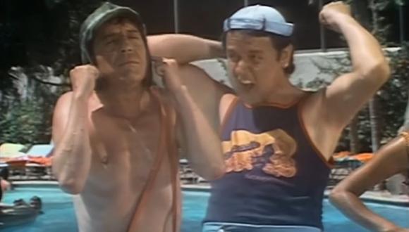 ¿Quién no recuerda este capítulo? Sin duda uno de los mejores. En la imagen: El Chavo del 8 llega al hotel de Acapulco y se encuentra con la Quico. (Foto: Televisa)
