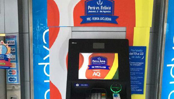 Entradas para el partido Perú vs. Bolivia pueden comprarse en cajeros del BBVA Continental (con tarjeta de la entidad).