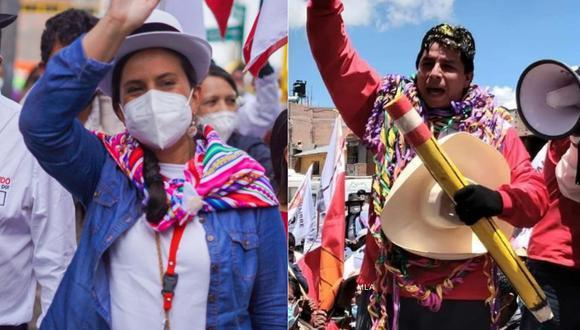Verónika Mendoza y Pedro Castillo disputan los votos de sectores de la izquierda. (Imagen: difusión)