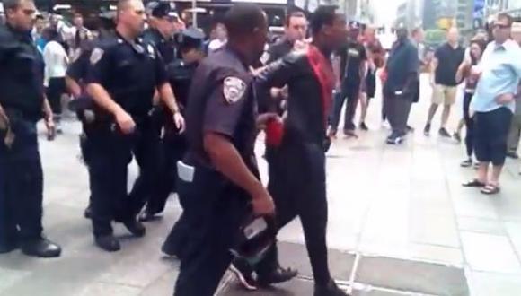 'Spider-Man' fue arrestado en Nueva York