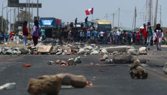 El paro agrario ha desencadenado múltiples bloqueos en las carreteras. (Foto: Alessandro Currarino | GEC)