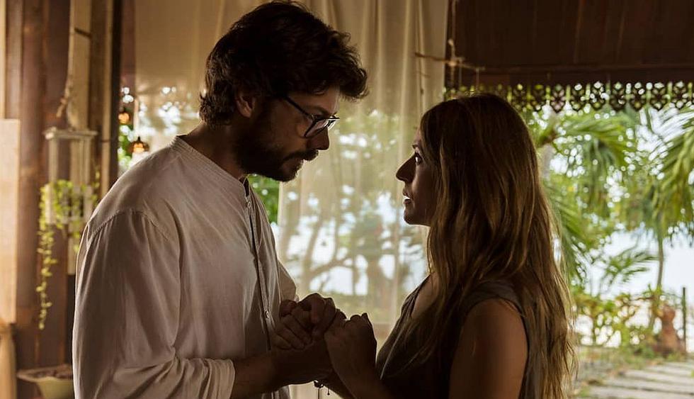 """Revelan nueva imagen de la 'Inspectora Murillo' y 'El Profesor' en una romántica escena de """"La casa de papel. (Foto: Netflix)"""