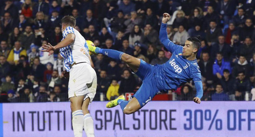 Estas fueron las mejores postales del duelo entre Juventus y SPAL por la Serie A. (Filippo Rubin/LaPresse via AP)