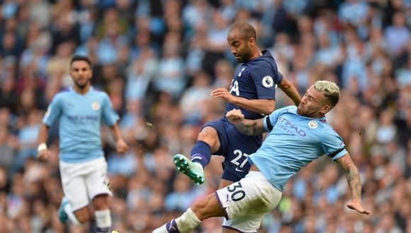 Manchester City y Tottenham empataron 2-2 en un partidazo por la segunda fecha de la Premier League. (Foto: EFE)