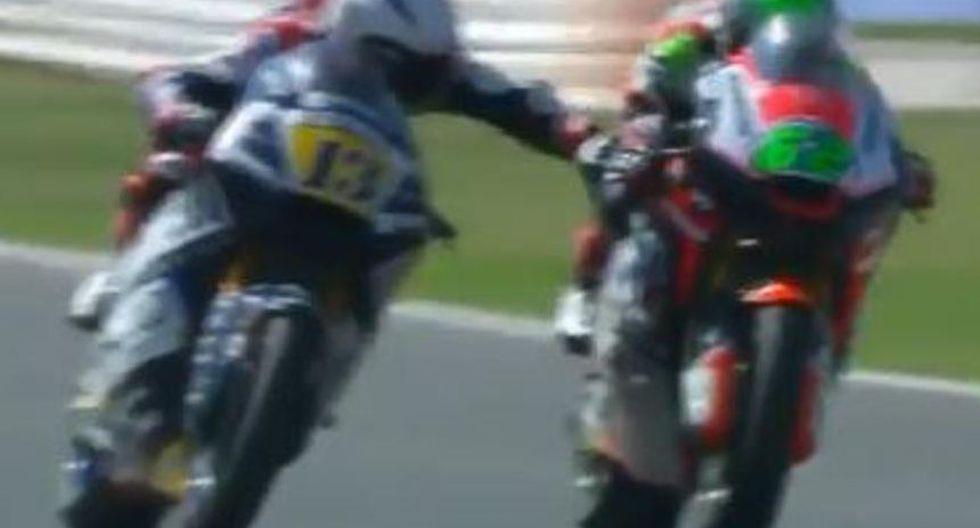YouTube: piloto de moto anunció su retiro del profesionalismo luego de esta polémica acción. (Foto: Captura de video)