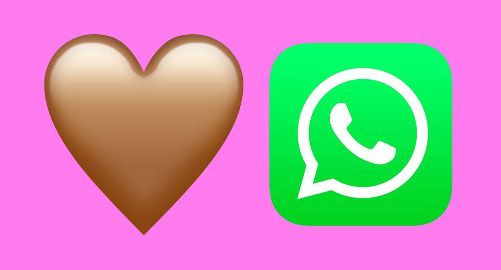 ¿Sabes qué es lo que significa realmente el corazón de color marrón de WhatsApp? Aquí te lo explicamos. (Foto: Emojipedia)