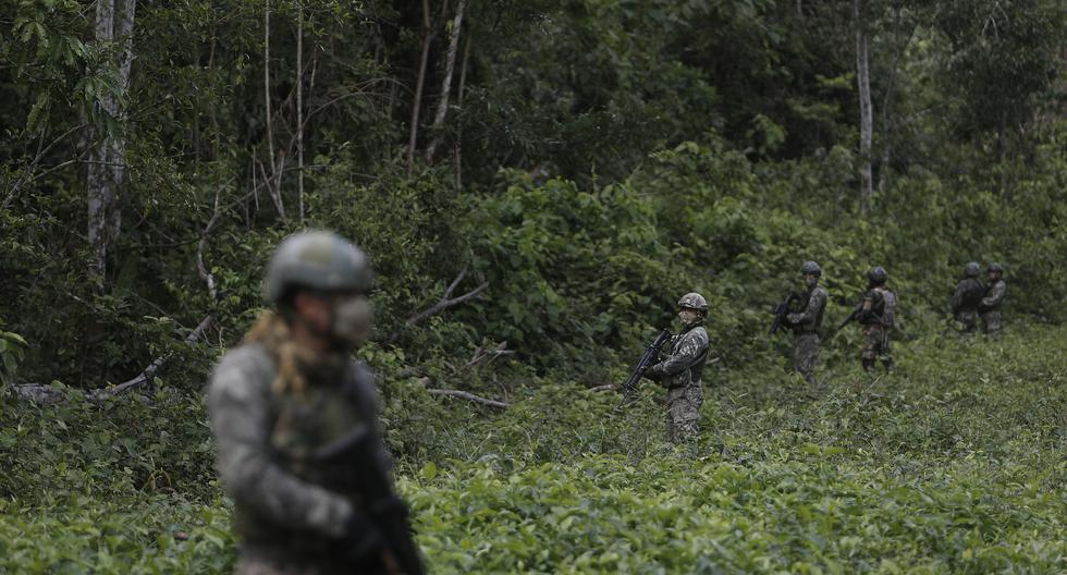 El pasado 3 de julio, policías y militares localizaron y destruyeron campamentos terroristas en las alturas de Llochegua (Ayacucho) donde habrían estado 'Vilma' y 'Olga'. No lograron detenerlas.  (Foto: El Comercio/César Campos)