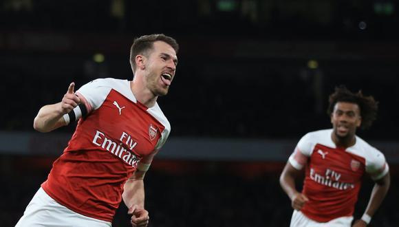 Ramsey celebrando su gol contra Newcastle. (Foto: AP)