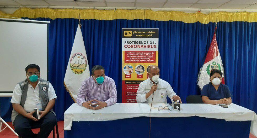 El gobernador de Tumbes confirmó dos nuevos casos de coronavirus en la región . (Foro: Gobierno Regional de Tumbes)