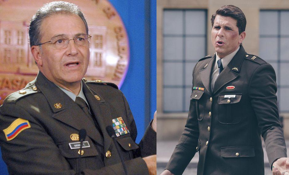 """A la izquierda, Oscar Naranjo en 2008. A la derecha Christian Meier en """"El General Naranjo"""" (2018). Fotos: AFP/ Difusión."""