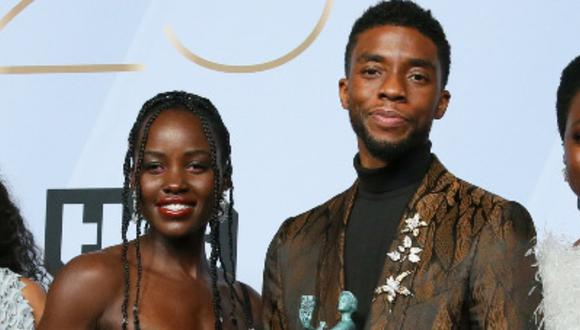Lupita Nyong'o recordó a Chadwick Boseman e hizo una conmovedora promesa. (Foto: Jean-Baptiste LACROIX / AFP)
