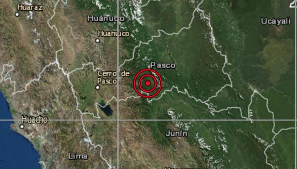 El sismo ocurrió a una profundidad de 129 km., reportó el IGP. (Imagen: IGP)