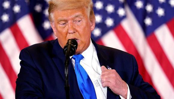 """El presidente de Estados Unidos, Donald Trump, siguió este miércoles sin agenda pública, concentrado en sus denuncias de un """"fraude electoral"""" a través de Twitter. (EFE)."""