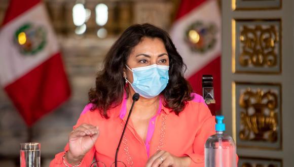 """La primera ministra aseguró este miércoles que las medidas del Gobierno para evitar contagios de COVID-19 """"van a irse flexibilizando a modo que avance el proceso de vacunación"""". (Foto: Presidencia)"""