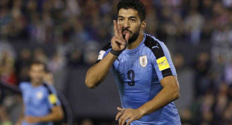 Luis Suárez marcó el segundo gol charrúa. (Foto: agencias)