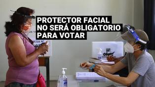 ONPE: Uso del protector facialno será obligatorio para electores este domingo 6 de junio
