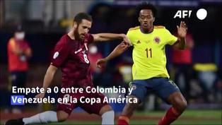 Colombia y Venezuela empatan 0-0 por el Grupo B de la Copa América