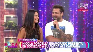 Nicola Porcella más enamorado que nunca, presenta en TV a su novia Ale Campaña