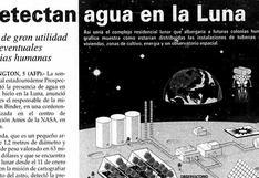 """Cuando la noticia de """"agua en la Luna"""" se dio… en 1998"""