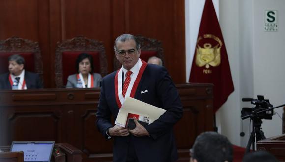 Pedro Olaechea afirmó que el Ejecutivo buscaba dominar al Parlamento. (Foto: Anthony Niño de Guzmán/GEC)