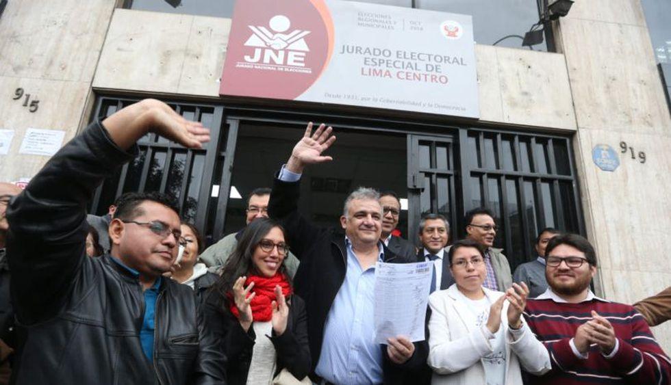 Gustavo Guerra García, candidato de Juntos por el Perú. (Foto: Juan Ponce / El Comercio)