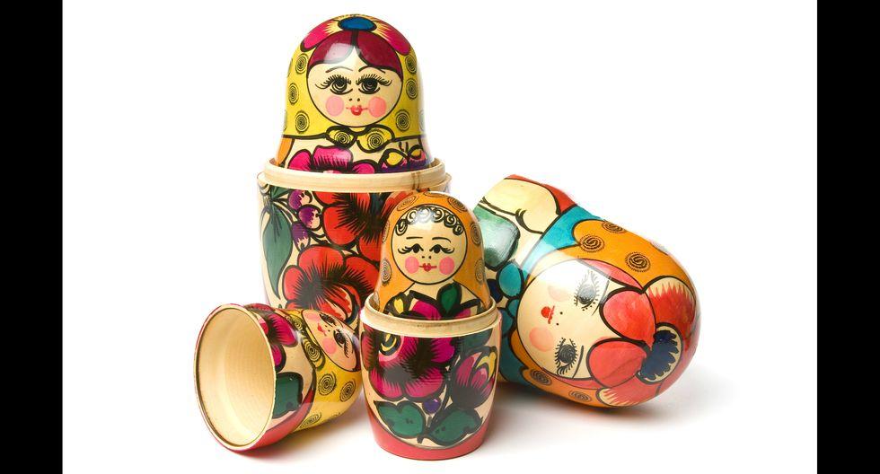 El clásico souvenir ruso es la matrioshka. Viene en diferentes tamaños, pero siempre en número impar. Foto: Istock