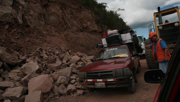 Tránsito se restablece en la carretera Fernando Belaunde Terry