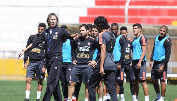 Ricardo Gareca en uno de los entrenamientos de la selección en Cusco, en agosto de 2016. (Foto: Federación Peruana de Fútbol)