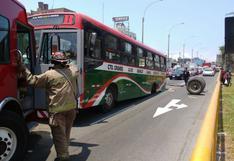 Eje se desprendió de bus en la Av. Canadá y dejó 6 heridos