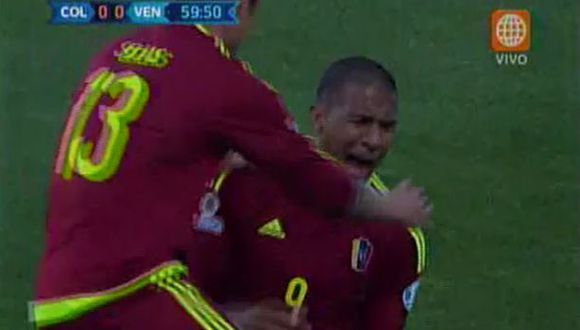 Salomón Rondón anotó el gol de Venezuela ante Colombia (VIDEO)